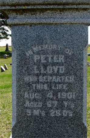 LLOYD, PETER - Ida County, Iowa   PETER LLOYD
