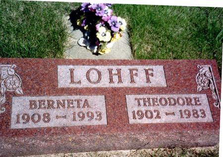 LOHFF, BERNETA - Ida County, Iowa | BERNETA LOHFF