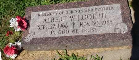LOOF, ALBERT W.   III - Ida County, Iowa | ALBERT W.   III LOOF