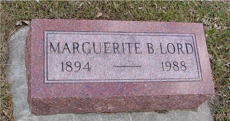 LORD, MARGUERITE B. - Ida County, Iowa | MARGUERITE B. LORD