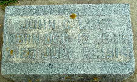 LOVE, JOHN COOTS - Ida County, Iowa | JOHN COOTS LOVE