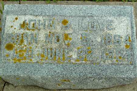 LOVE, JOHN B. - Ida County, Iowa | JOHN B. LOVE