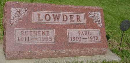 LOWDER, RUTHENE - Ida County, Iowa | RUTHENE LOWDER