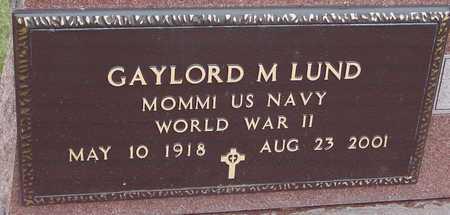 LUND, GAYLORD M. - Ida County, Iowa | GAYLORD M. LUND