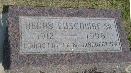 LUSCOMBE, HENRY SR. - Ida County, Iowa   HENRY SR. LUSCOMBE