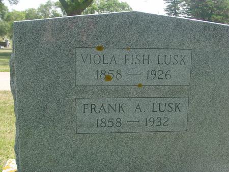 LUSK, FRANK & VIOLA - Ida County, Iowa | FRANK & VIOLA LUSK