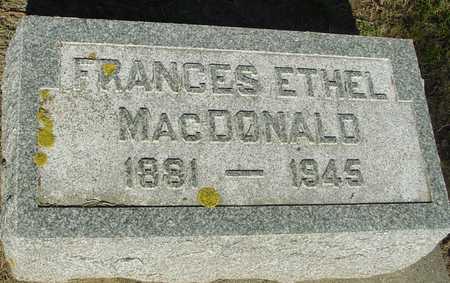 MACDONALD, FRANCES ETHEL - Ida County, Iowa | FRANCES ETHEL MACDONALD