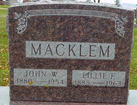 MACKLEM, JOHN W. & LILLIE - Ida County, Iowa | JOHN W. & LILLIE MACKLEM