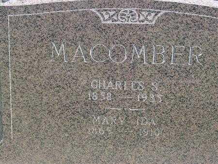 MACOMBER, MARY IDA - Ida County, Iowa   MARY IDA MACOMBER