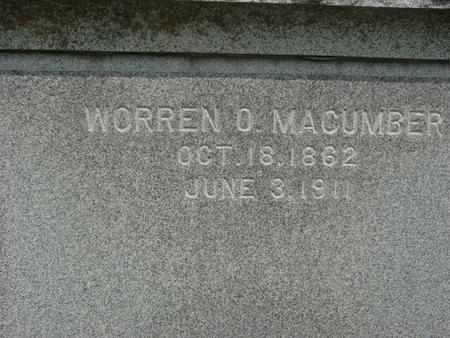 MACUMBER, WORREN O. - Ida County, Iowa | WORREN O. MACUMBER