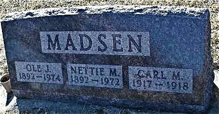 MADSEN, CARL M. - Ida County, Iowa   CARL M. MADSEN