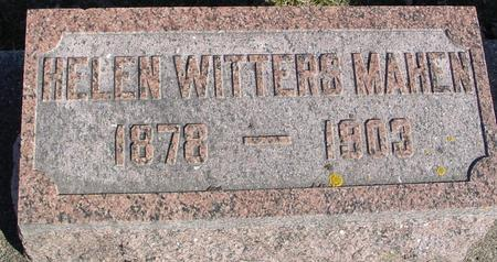 WITTERS MAHEN, HELEN - Ida County, Iowa | HELEN WITTERS MAHEN