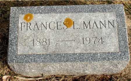 MANN, FRANCES L. - Ida County, Iowa | FRANCES L. MANN
