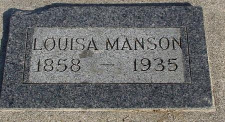MANSON, LOUISA - Ida County, Iowa | LOUISA MANSON