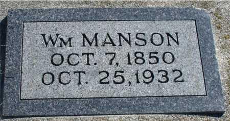MANSON, WILLIAM - Ida County, Iowa | WILLIAM MANSON