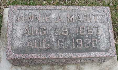 MARITZ, MINNIE A. - Ida County, Iowa | MINNIE A. MARITZ