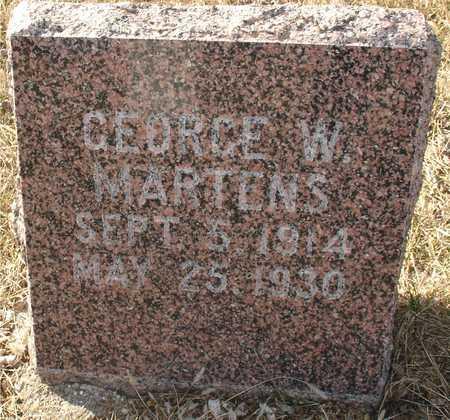 MARTENS, GEORGE W. - Ida County, Iowa   GEORGE W. MARTENS