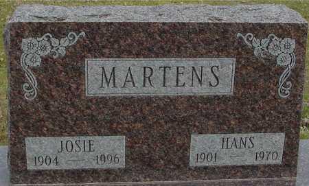 MARTENS, HANS & JOSIE - Ida County, Iowa   HANS & JOSIE MARTENS