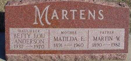 MARTENS, MARTIN, MATILDA, BETTY - Ida County, Iowa | MARTIN, MATILDA, BETTY MARTENS