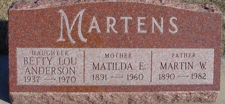 MARTENS, MARTIN & MATILDA - Ida County, Iowa | MARTIN & MATILDA MARTENS