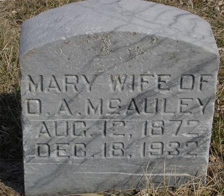 MCAULEY, MARY - Ida County, Iowa | MARY MCAULEY