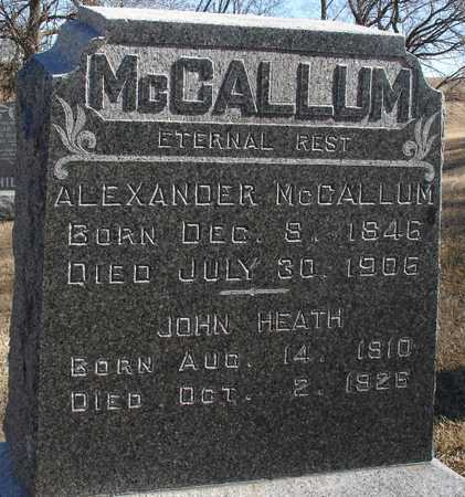 MCCALLUM, ALEXANDER - Ida County, Iowa | ALEXANDER MCCALLUM