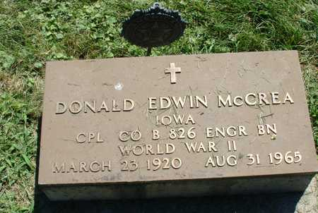 MCCREA, DONALD EDWIN - Ida County, Iowa | DONALD EDWIN MCCREA