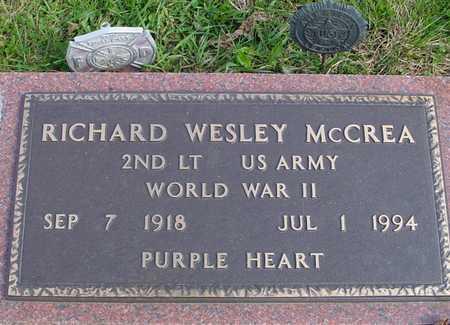 MCCREA, RICHARD WESLEY - Ida County, Iowa   RICHARD WESLEY MCCREA