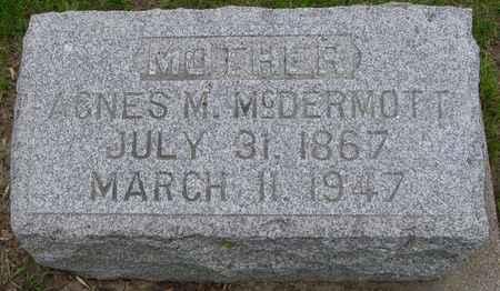 MCDERMOTT, AGNES M. - Ida County, Iowa   AGNES M. MCDERMOTT