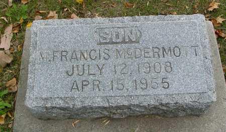 MCDERMOTT, M. FRANCIS - Ida County, Iowa | M. FRANCIS MCDERMOTT