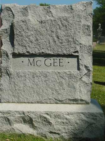 MCGEE, FAMILY MARKER - Ida County, Iowa | FAMILY MARKER MCGEE
