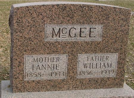 MCGEE, WILLIAM & FANNIE - Ida County, Iowa   WILLIAM & FANNIE MCGEE