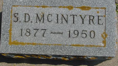 MCINTYRE, S. D. - Ida County, Iowa | S. D. MCINTYRE