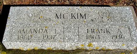 MCKIM, FRANK & AMANDA - Ida County, Iowa   FRANK & AMANDA MCKIM