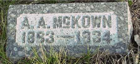MCKOWN, A.  A. - Ida County, Iowa | A.  A. MCKOWN