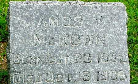 MCKOWN, AMOS V. - Ida County, Iowa   AMOS V. MCKOWN