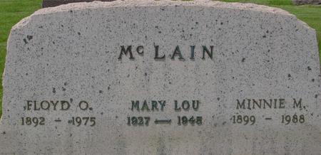 MCLAIN, FLOYD & MINNIE - Ida County, Iowa | FLOYD & MINNIE MCLAIN