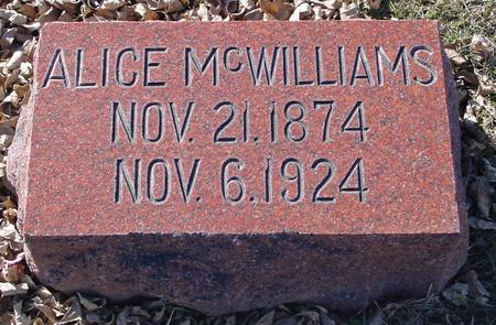 MCWILLIAMS, ALICE - Ida County, Iowa | ALICE MCWILLIAMS