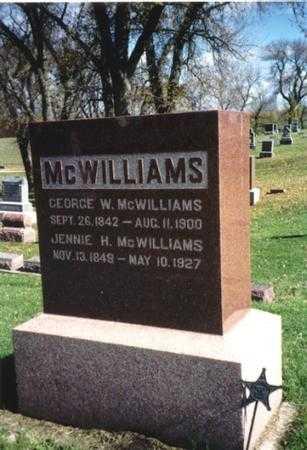 MCWILLIAMS, JENNIE H. - Ida County, Iowa | JENNIE H. MCWILLIAMS