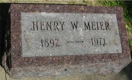 MEIER, HENRY W. - Ida County, Iowa   HENRY W. MEIER