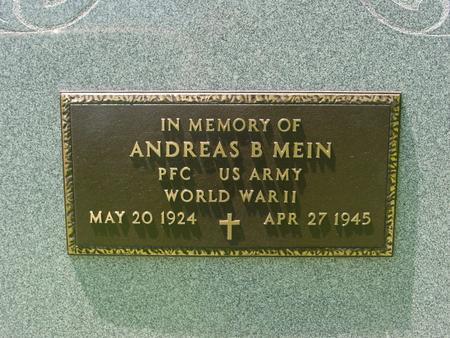 MEIN, ANDREAS B. - Ida County, Iowa | ANDREAS B. MEIN