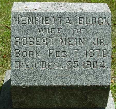 BLOCK MEIN, HENRIETTA - Ida County, Iowa   HENRIETTA BLOCK MEIN