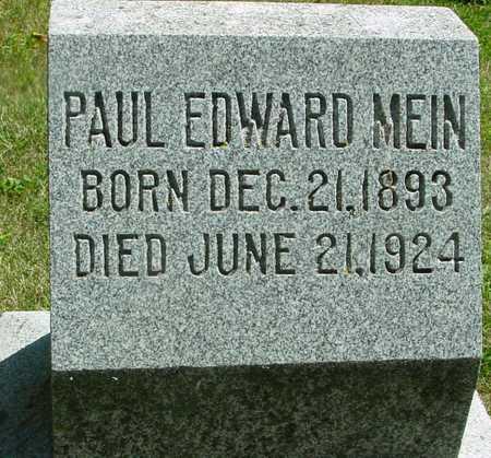 MEIN, PAUL EDWARD - Ida County, Iowa   PAUL EDWARD MEIN