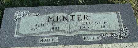 MENTER, GEO. E. &  ALICE E. - Ida County, Iowa | GEO. E. &  ALICE E. MENTER