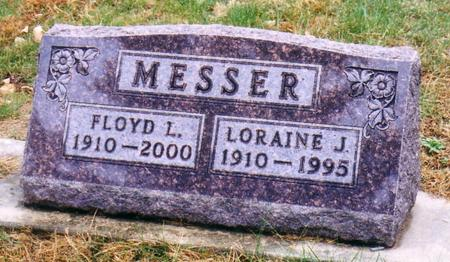 MOOREHEAD MESSER, LORAINE JESSIE - Ida County, Iowa | LORAINE JESSIE MOOREHEAD MESSER