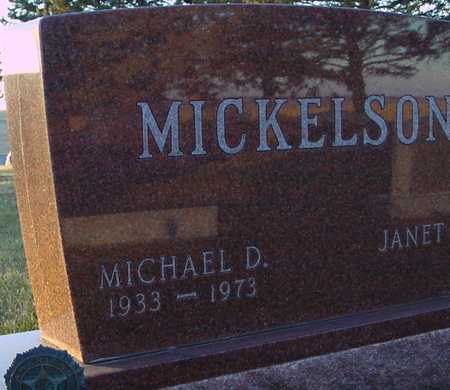 MICKELSON, MICHAEL D. - Ida County, Iowa   MICHAEL D. MICKELSON