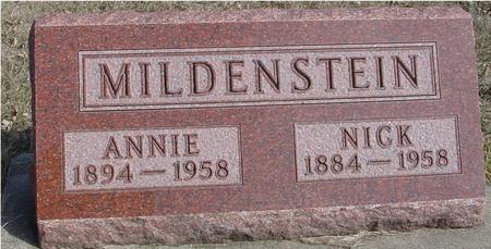 MILDENSTEIN, NICK & ANNIE - Ida County, Iowa   NICK & ANNIE MILDENSTEIN