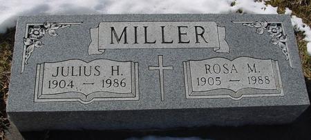 MILLER, JULIUS & ROSA M. - Ida County, Iowa   JULIUS & ROSA M. MILLER