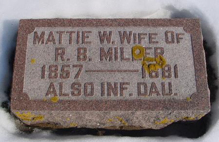 MILLER, MATTIE W. - Ida County, Iowa   MATTIE W. MILLER
