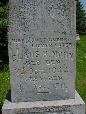MOHN, CLAUS H. - Ida County, Iowa | CLAUS H. MOHN